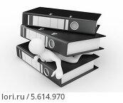 Купить «Человек придавлен офисными папками», иллюстрация № 5614970 (c) Maksym Yemelyanov / Фотобанк Лори