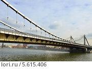 Крымский мост — висячий мост в Москве (2014 год). Стоковое фото, фотограф Валерия Попова / Фотобанк Лори