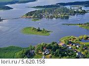 Озеро Селигер и острова с высоты. Стоковое фото, фотограф Елена Коромыслова / Фотобанк Лори