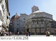Купить «Центр Флоренции в солнечный день», фото № 5636258, снято 2 октября 2011 г. (c) Юлия Белоусова / Фотобанк Лори