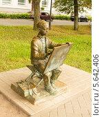 Купить «Великий Новгород, скульптура», фото № 5642406, снято 18 июля 2013 г. (c) ИВА Афонская / Фотобанк Лори