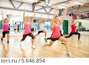 Купить «Групповое занятие в фитнес-клубе», фото № 5646854, снято 28 сентября 2013 г. (c) Syda Productions / Фотобанк Лори
