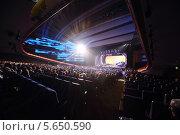 Зрительный зал Кремлевского дворца. Концерт Эдиты Пьехи, фото № 5650590, снято 14 октября 2012 г. (c) Losevsky Pavel / Фотобанк Лори