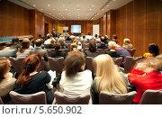 Купить «Слушатели на презентации», фото № 5650902, снято 30 ноября 2010 г. (c) Losevsky Pavel / Фотобанк Лори