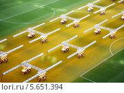 Купить «Осветительные системы для выращивания травы на пустом футбольном стадионе», фото № 5651394, снято 8 марта 2012 г. (c) Losevsky Pavel / Фотобанк Лори