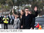 Бред Питт и Анджелина Джоли после церемонии награждения Independent Spirit Awards (2014 год). Редакционное фото, фотограф Гуляева Юлия / Фотобанк Лори