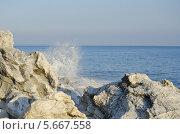 Белые скалы в Абхазии. Стоковое фото, фотограф Сергей / Фотобанк Лори