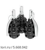 Купить «Три ручные осколочные противопехотные оборонительные гранаты группой на белом фоне», иллюстрация № 5668042 (c) Александр Степанов / Фотобанк Лори