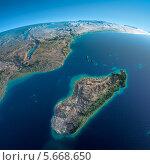 Вид на Землю из космоса. Африка и Мадагаскар. Стоковая иллюстрация, иллюстратор Антон Балаж / Фотобанк Лори