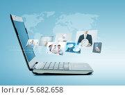 Купить «Современный ноутбук с ультра тонким экраном», фото № 5682658, снято 14 ноября 2013 г. (c) Syda Productions / Фотобанк Лори