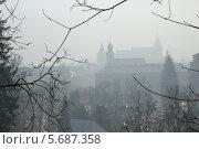 Туманное утро в Трансильвании (2012 год). Стоковое фото, фотограф Любовь Белоусова / Фотобанк Лори