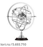 Купить «Сферическая астролябия на белом фоне», иллюстрация № 5693710 (c) Максим Бондарчук / Фотобанк Лори