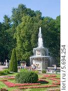 Купить «Римский фонтан 1739 год. Петродворец», эксклюзивное фото № 5694254, снято 20 июля 2012 г. (c) Александр Щепин / Фотобанк Лори