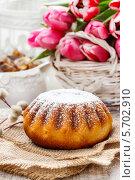 Купить «Бабка - традиционный пасхальный торт, популярный в Восточной Европе. Это традиционно пекут на Пасху воскресенье в Польше, Болгарии, Македонии и Албании», фото № 5702910, снято 20 июля 2018 г. (c) BE&W Photo / Фотобанк Лори
