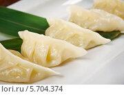 Купить «Китайские пельмени Jiaozi», фото № 5704374, снято 22 февраля 2014 г. (c) Александр Fanfo / Фотобанк Лори
