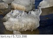 Талый лёд на реке Жиздра. Стоковое фото, фотограф Ольга Печёнова / Фотобанк Лори