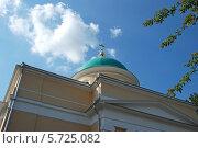 Купить «Купол церкви Воскресения Словущего в Даниловской слободе в Москве», эксклюзивное фото № 5725082, снято 16 августа 2011 г. (c) lana1501 / Фотобанк Лори