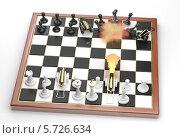 Купить «Прямое попадание! Маленькая война на шахматной доске», иллюстрация № 5726634 (c) Александр Степанов / Фотобанк Лори