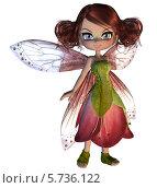 Купить «Цветочная фея», иллюстрация № 5736122 (c) Анна Павлова / Фотобанк Лори
