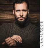Купить «Портрет мужчины с бородой и усами», фото № 5737018, снято 20 марта 2014 г. (c) Andrejs Pidjass / Фотобанк Лори