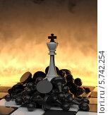 Купить «Огонь и разрушение. Белый король на поверженных врагах», иллюстрация № 5742254 (c) Александр Степанов / Фотобанк Лори