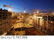 Строительная площадка в вечернее время. Стоковое фото, фотограф Losevsky Pavel / Фотобанк Лори
