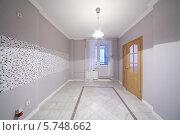 Купить «Просторная комната без мебели с выходом на балкон в новой квартире», фото № 5748662, снято 2 декабря 2012 г. (c) Losevsky Pavel / Фотобанк Лори
