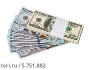 Купить «Доллары США изолированы на белом фоне», фото № 5751882, снято 23 февраля 2019 г. (c) FotograFF / Фотобанк Лори