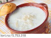 Молочный суп с вермишелью. Стоковое фото, фотограф Наталья Евстигнеева / Фотобанк Лори