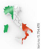 Купить «Карта Италии с итальянским флагом», иллюстрация № 5754470 (c) Maksym Yemelyanov / Фотобанк Лори