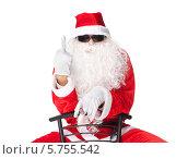 Санта-Клаус показывает средний палец. Стоковое фото, фотограф Viktor Gladkov / Фотобанк Лори