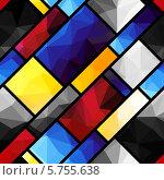 Купить «Бесшовный геометрический узор в стиле Пита Мондриана», иллюстрация № 5755638 (c) Касьянова Татьяна / Фотобанк Лори
