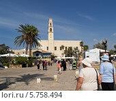 Купить «Площадь Кдумим в Яффо, Израиль», фото № 5758494, снято 4 октября 2012 г. (c) Ирина Борсученко / Фотобанк Лори