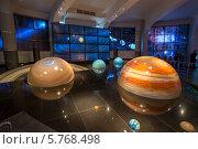 Купить «Интерактивный макет Солнечной системы в музее Урании Большого планетария города Москвы», фото № 5768498, снято 22 марта 2014 г. (c) Володина Ольга / Фотобанк Лори
