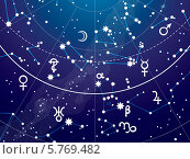 Купить «Карта звёздного неба, фрагмент (ультрафиолетовая версия)», иллюстрация № 5769482 (c) Одиссей / Фотобанк Лори