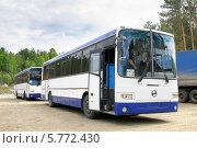 Купить «Новые автобусы ГолАЗ-ЛиАЗ-5256», фото № 5772430, снято 12 июня 2009 г. (c) Art Konovalov / Фотобанк Лори