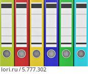 Купить «Архивные цветные офисные папки», иллюстрация № 5777302 (c) Maksym Yemelyanov / Фотобанк Лори