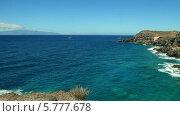 Купить «Между двух островов Тенерифе и Ла Гомера», видеоролик № 5777678, снято 1 октября 2013 г. (c) Roman Likhov / Фотобанк Лори