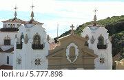 Купить «Католическая церковь в городе Канделария, Тенерифе», видеоролик № 5777898, снято 22 февраля 2014 г. (c) Roman Likhov / Фотобанк Лори