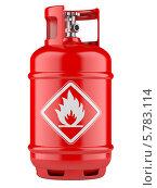 Купить «Баллон со сжатым газом», иллюстрация № 5783114 (c) Маринченко Александр / Фотобанк Лори