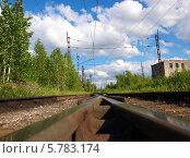 Купить «Железнодорожное перепутье», фото № 5783174, снято 6 июня 2010 г. (c) Евгений Ткачёв / Фотобанк Лори