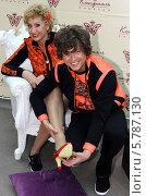 Прохор Шаляпин и его жена Лариса Копенкина (2014 год). Редакционное фото, фотограф Бобровский Алексей Иванович / Фотобанк Лори