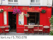 Купить «Ресторан на Монмартре, Париж», фото № 5793078, снято 30 мая 2011 г. (c) Food And Drink Photos / Фотобанк Лори