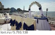 Купить «Свадебная церемония у моря. Набережная Севастополя», видеоролик № 5793138, снято 23 января 2020 г. (c) Александр Устич / Фотобанк Лори