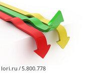 Купить «Гибкие стрелки, двигающиеся в разных направлениях», иллюстрация № 5800778 (c) Maksym Yemelyanov / Фотобанк Лори