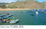 Купить «Искусственный пляж Тереситас на острове Тенерифе, Канарские острова», видеоролик № 5806254, снято 9 февраля 2014 г. (c) Roman Likhov / Фотобанк Лори