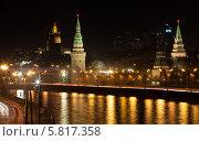 Ночной вид на Москву (2014 год). Стоковое фото, фотограф Dmitry Barmin / Фотобанк Лори