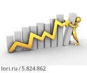 Купить «Человек строит график роста», иллюстрация № 5824862 (c) Maksym Yemelyanov / Фотобанк Лори