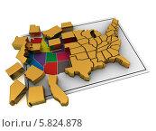 Купить «Раздробленность штатов Америки», иллюстрация № 5824878 (c) Maksym Yemelyanov / Фотобанк Лори