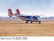 Купить «Самолет Ан-28», эксклюзивное фото № 5825342, снято 13 апреля 2014 г. (c) Сергей Лаврентьев / Фотобанк Лори